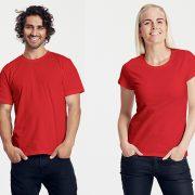 Klassisches T-Shirt für Damen und Herren Rot