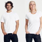 Klassisches T-Shirt für Damen und Herren Weiss