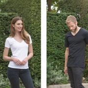 T-Shirts V-Ausschnitt für Damen und Herren