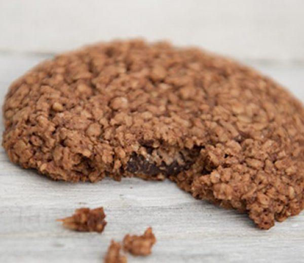 Veganer Cookie mit Nougat und Banane