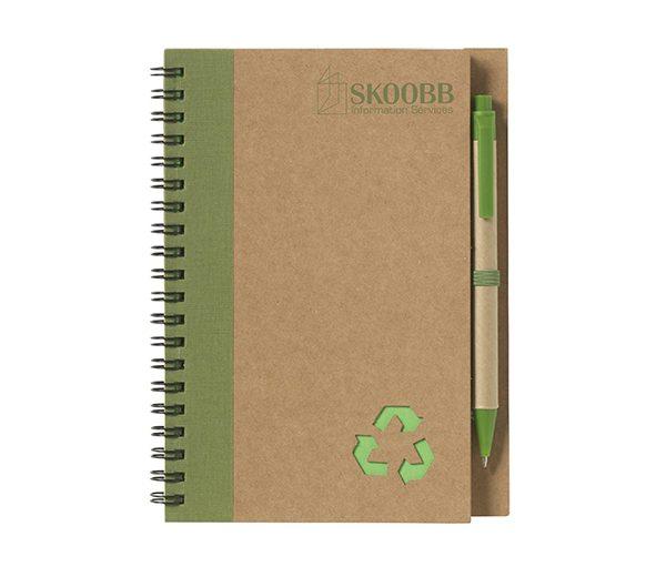 Recycling Notizbuch A5 grün