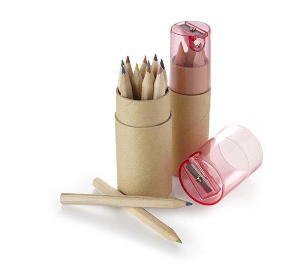 Buntstifte Set in Papprolle 2