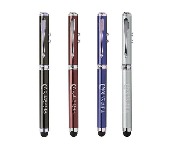 Touch Pen mit Laserpointer und LED - alle Farbern