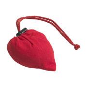 Faltbare Tasche aus Baumwolle zusammengefaltet rot
