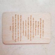 Holz Visitenkarte 4