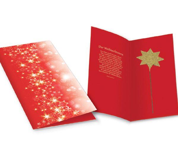 Weihnachtskarte Goldener Stern