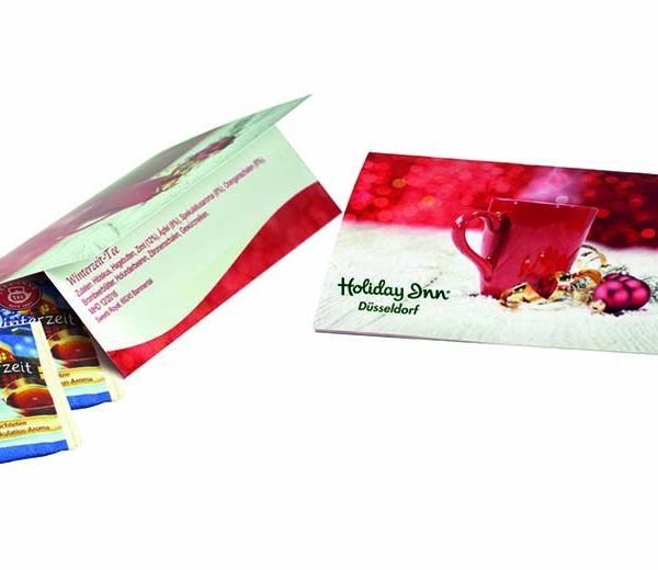 Weihnachtskarte Teegenuss