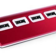USB-Hub Aluminium rot