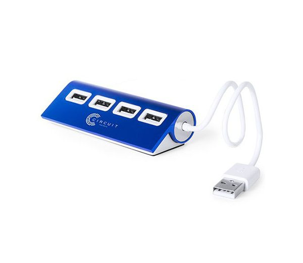 USB-Hub Aluminium blau