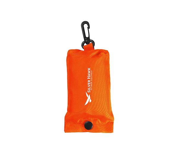 Faltbare Einkaufstasche im Etui orange 1