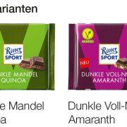 Ritter Sport 100g vegan Füllvarianten
