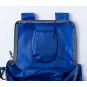 Faltbarer Rucksack blau Verschluss