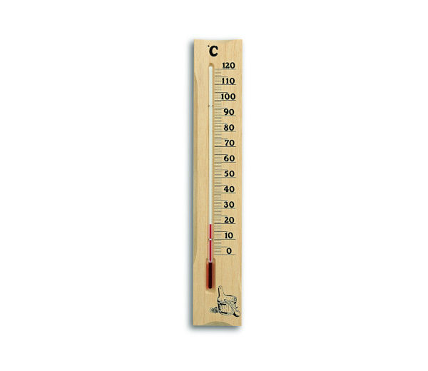Sauna-Thermometer aus Kiefernholz