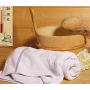 Analoges Sauna-Thermometer aus Kiefernholz mit 2 Punkt Funktion