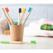 Bambus-Zahnbürste Colour bunt