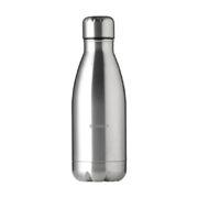 Edelstahl Trinkflasche in Flaschenform silber
