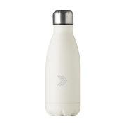 Edelstahl Trinkflasche in Flaschenform weiss