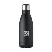 Edelstahl Trinkflasche in Flaschenform schwarz