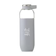 Luxus Trinkflasche grau